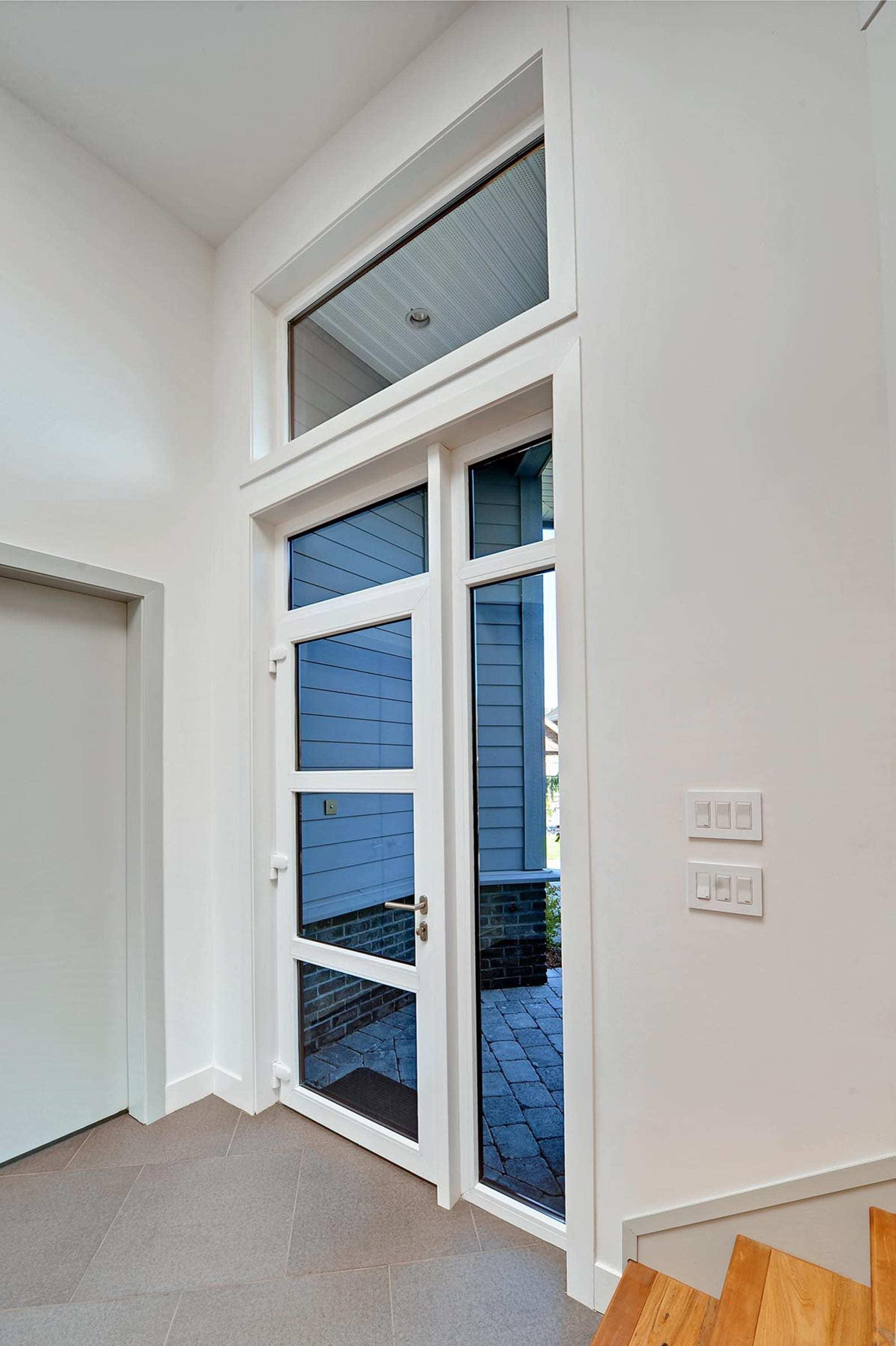 Haustür weiß sprossen  TROCAL 88+ Kunststoff-Haustürsystem Standard | TROCAL