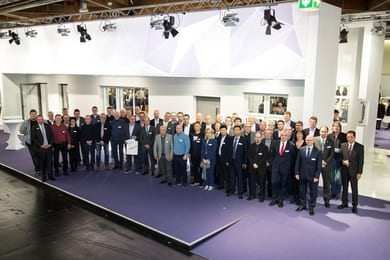 87 customer companies were on the invitation list for the anniversary celebration of profine at Fensterbau Frontale 2018.