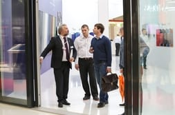 BATIMAT MOSCOW 2015 – Advisory talk with customer about PremiDoor 88