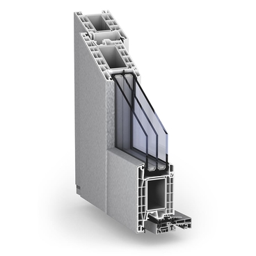 TROCAL 76+ residential door outward opening AluClip