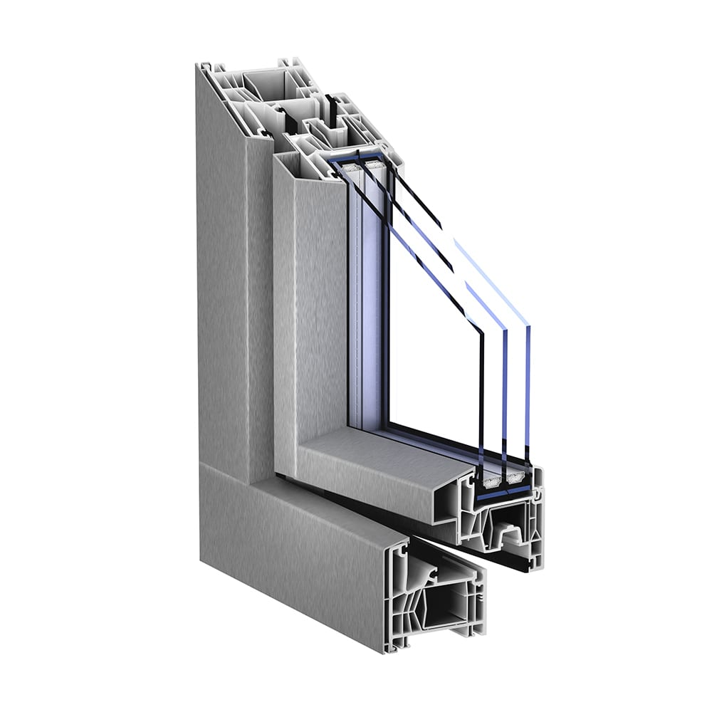 Trocal 76 mitteldichtung aluclip pro kunststoff for Trocal fenster
