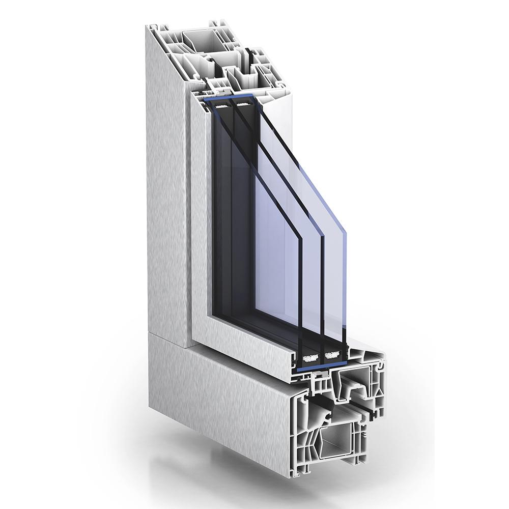 Trocal 76 aluclip zero mitteldichtung kunststoff for Trocal fenster