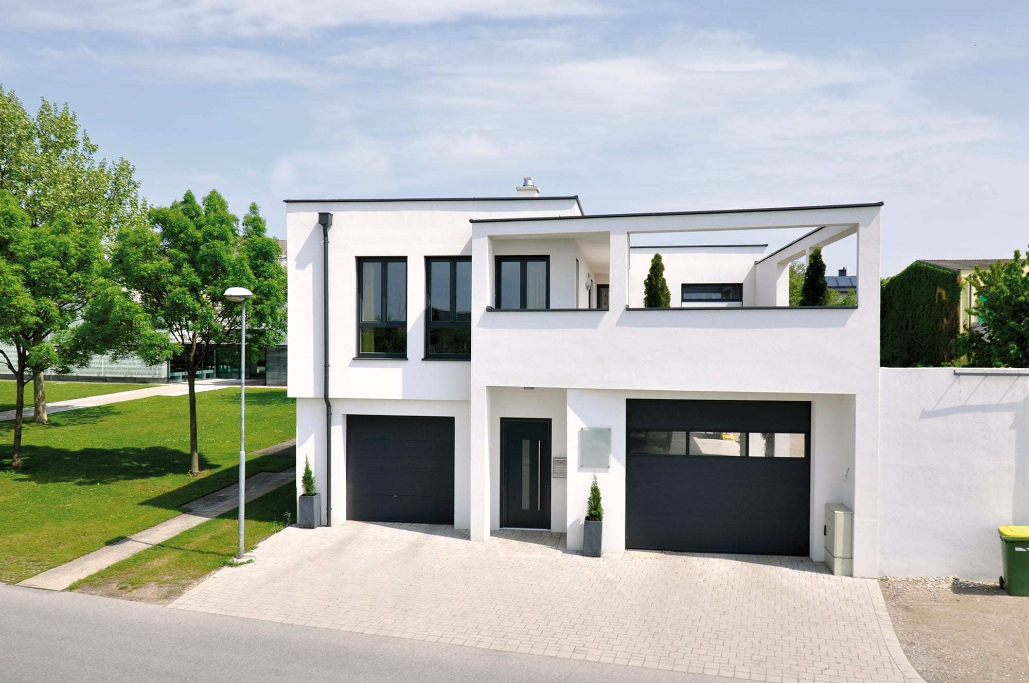 Einfamilienh user trocal for Einfamilienhaus modern flachdach